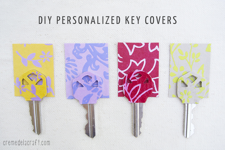 Diy Personalized Key Covers From Scrapbook Paper