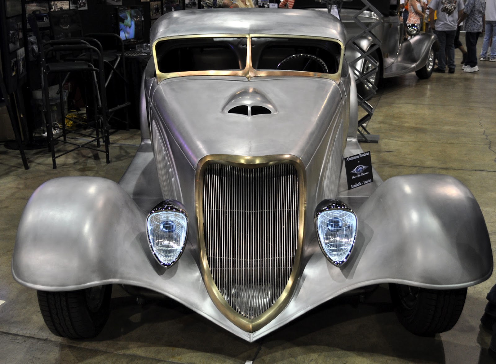 Just A Car Guy: Steve\'s Auto Restoration has a striking aluminum hot ...