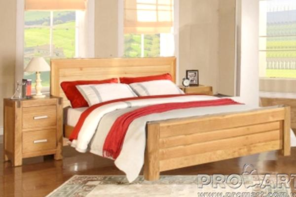 Giường ngủ đôi, giường cưới kiểu Cuba gỗ Sồi