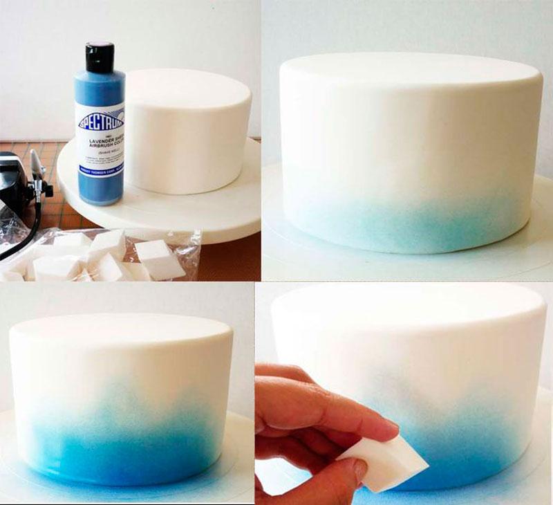 cmo decorar pasteles pintados a mano