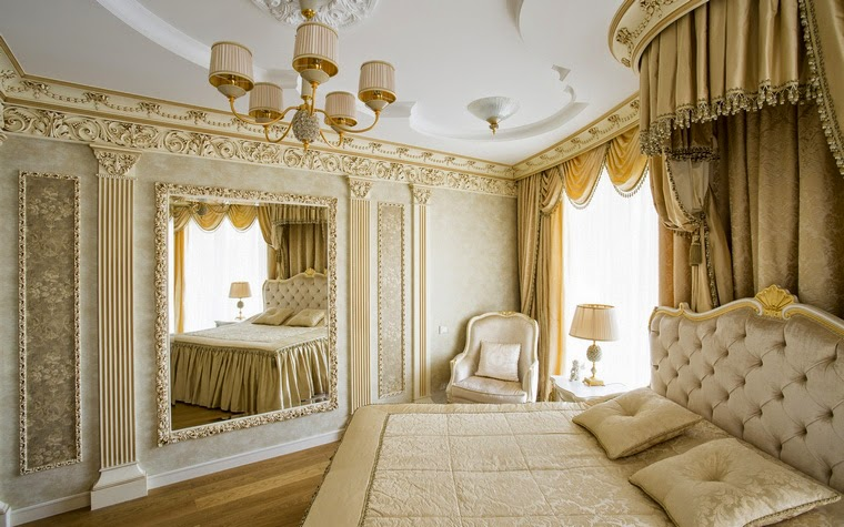 12 white bedroom designs and ideas in classic style for Luxury classic bedroom designs