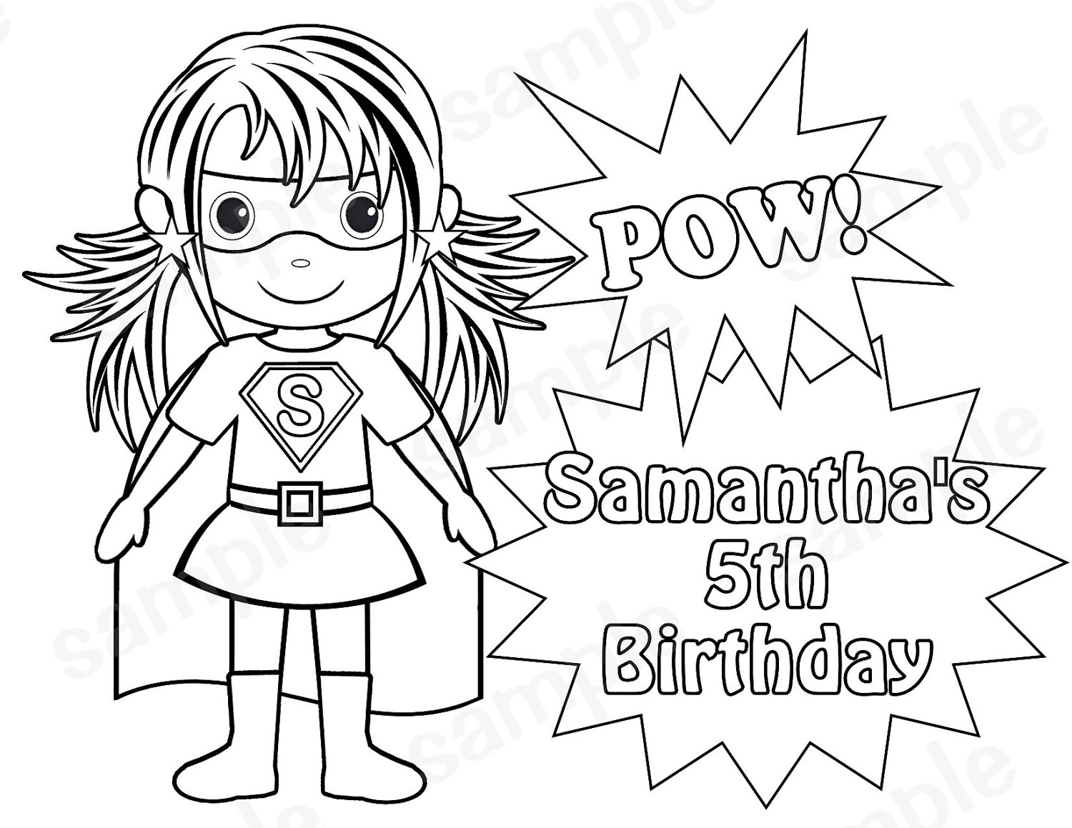 printable super hero coloring pages - photo#14