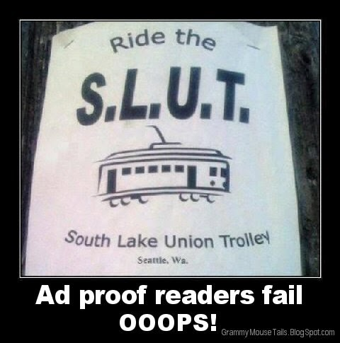 trolly sign fail ad for sluts image