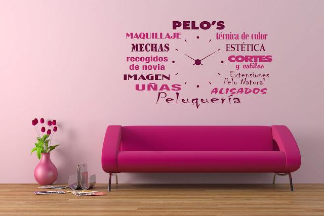 Dekotipo design vinilo personalizado para reloj de pared - Vinilos decorativos pared personalizados ...