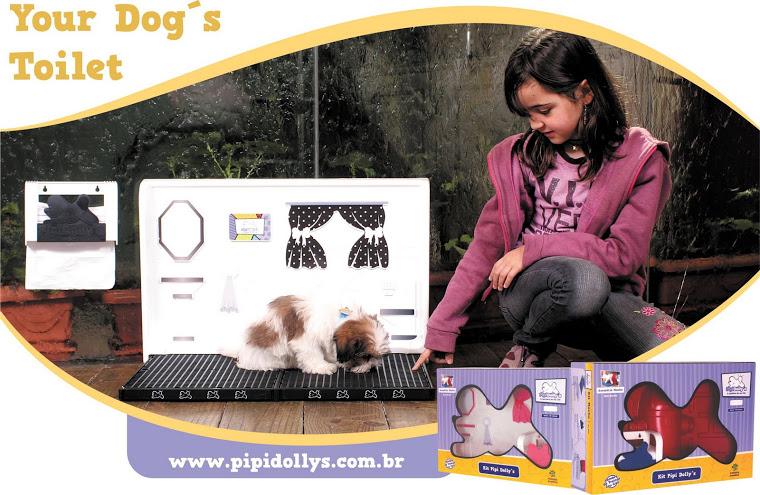 sanitário para cães em p & b - CHIC!!