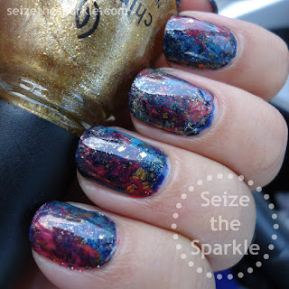 Galaxy Sponging Seriotype Manicure