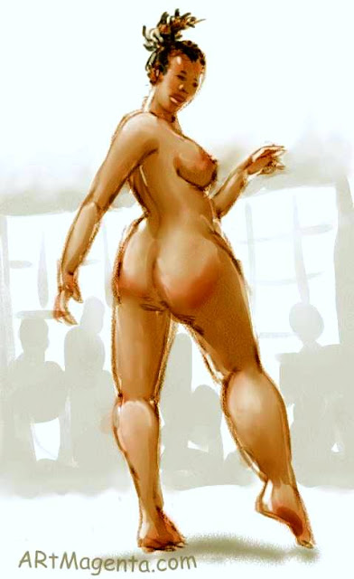 Croquis model Nelly the Sunshine, by ArtMagenta