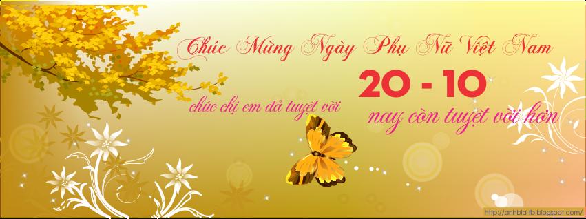 Ảnh bìa facebook ngày phụ nữ Việt Nam 20 tháng 10 phần 2