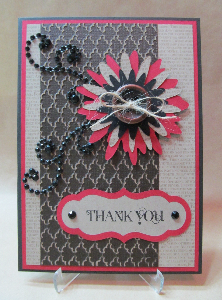 Savvy Handmade Cards Layered Flower Thank You Card
