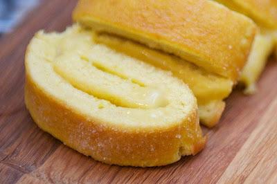 Sponge cake Gypsy arm of lemon Swiss roll baking recipe in english Dessert