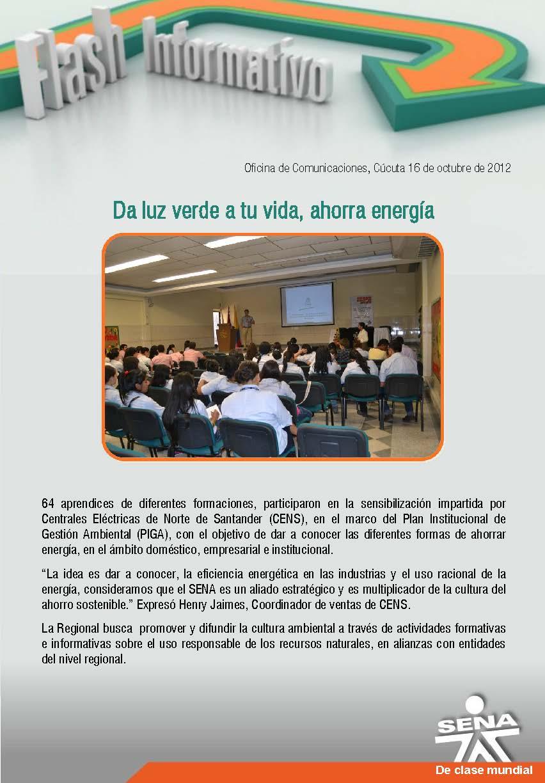 Regional norte de santander da luz verde a tu vida ahorra energ a - Oficinas santander pamplona ...