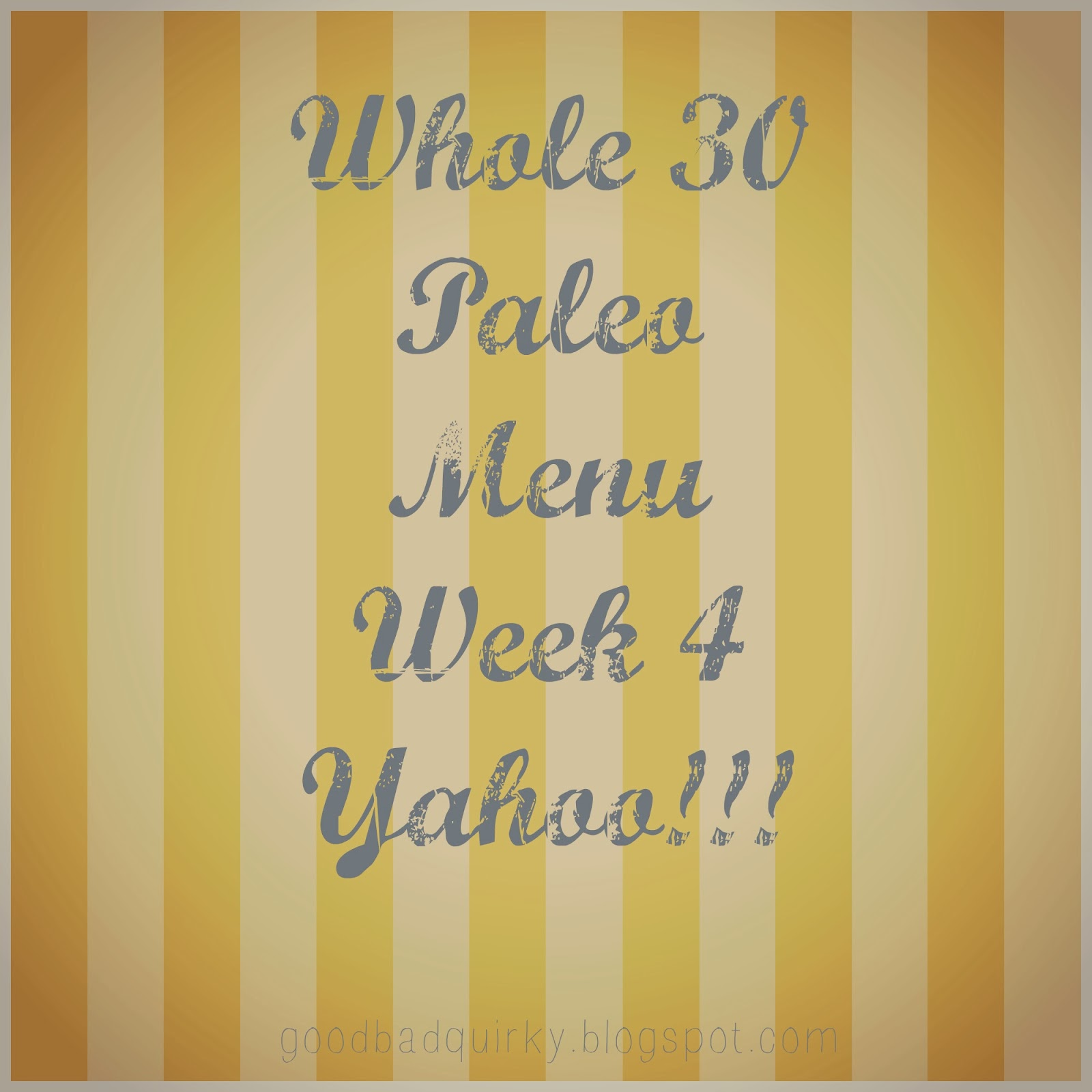Whole 30 Paleo Menu with Links