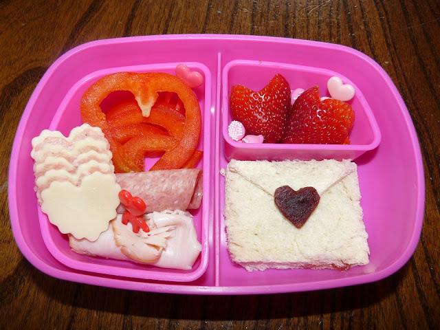 valentine heart bento lunch
