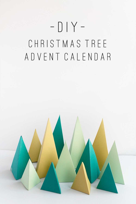 Diy Chocolate Advent Calendar : Tell diy christmas tree advent calendar love and