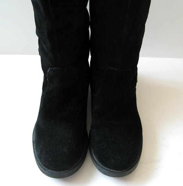 Wonderful Womens Black Suede Look Chelsea Gusset Flat Pull On Ladies Ankle Boots