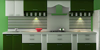 Acrylic modular kitchen design
