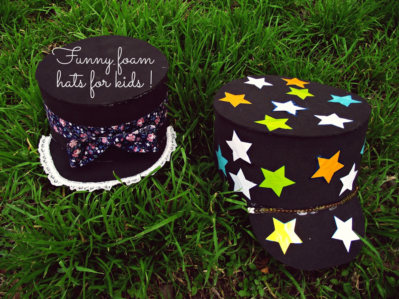 hacer unos divertidos sombreros de foami para agregar a la caja de ...