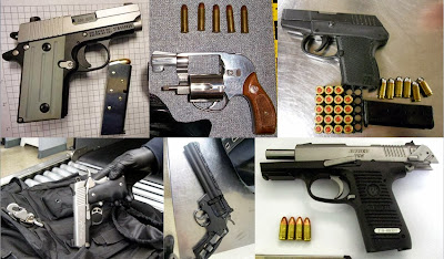 Guns Discovered at (Left to Right, Top to Bottom) MLU, JAX, PHX, SEA, SEA, TYS