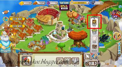 masuk di game dragon city 2 klik dragon book seperti pada gambar
