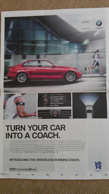 BMW April Fools 2012 newspaper advert