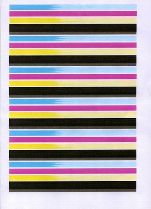 impresión con líneas borrosas