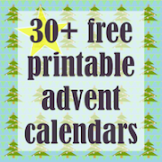 Free printable Advent Calendars:
