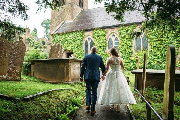 A wedding at St Michaels Church in Derbyshire.