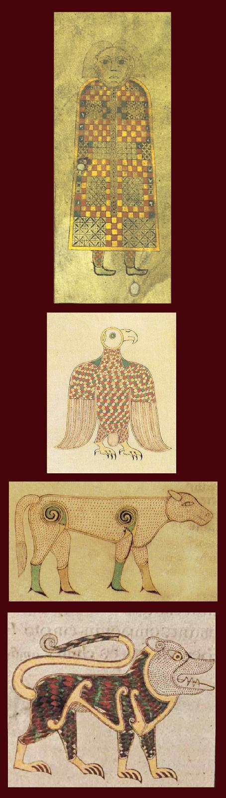 The Text Of The Gospels The Evangelists Symbols Man Lion Ox Eagle