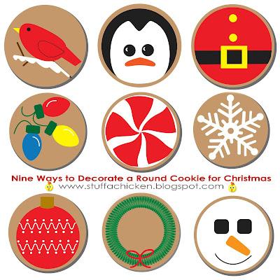 Gonna stuff a chicken nine ways to decorate a round cookie cutter for