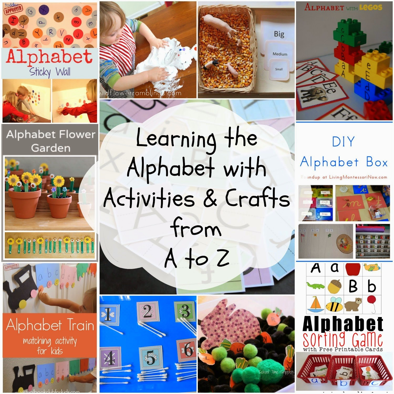 Alphabet - Natural Beach Living, letter of the week, books, organization, Sensory play, Crafts, www.naturalbeachliving.com