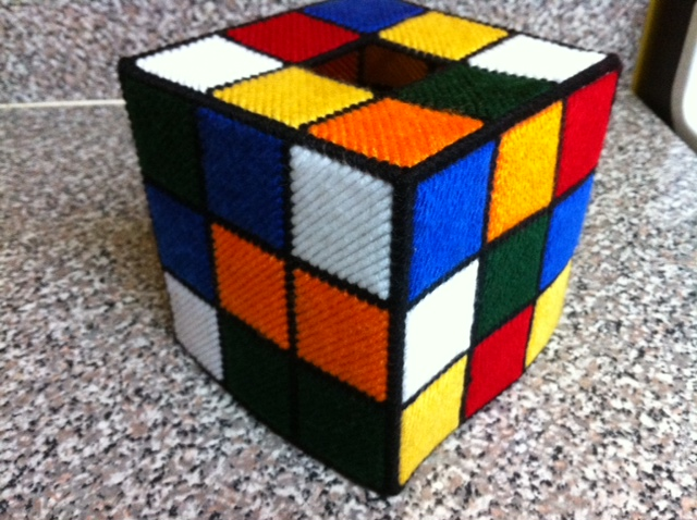 rubik 39 s cube tissue cover as seen big bang theory. Black Bedroom Furniture Sets. Home Design Ideas