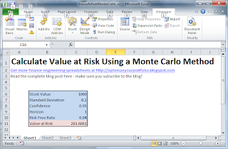 Value at Risk Monte Carlo Simulation Excel