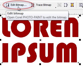 Sehingga kita bisa dengan leluasa mengedit objek bitmap yang ada pada