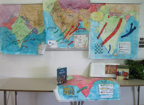 History Class Painted Maps of India