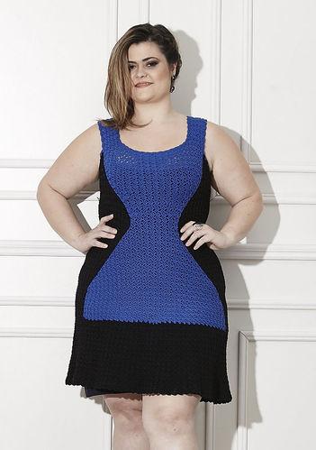Vestido Verano emagrecedor Plus Size de crochê com gráfico e passo a passo