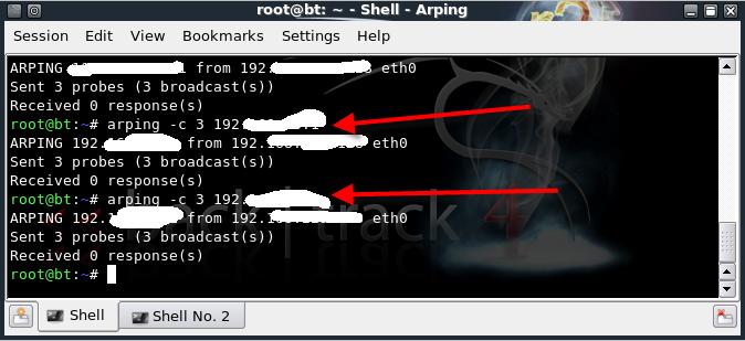 شرح أداة Arping و أداة Arping2 و علاقتها ببرنامج Wireshark في نظام باك تراك coobra.net