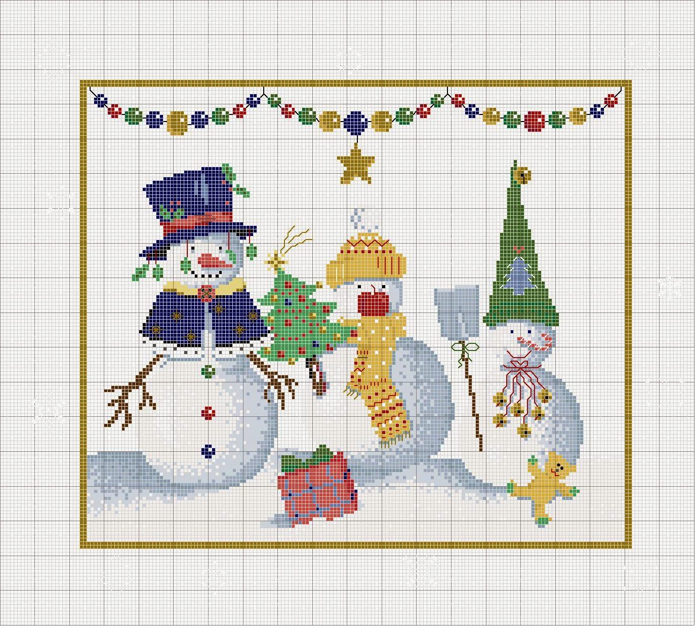 Pointgram christmas tablecloth - Disegni a punti ...