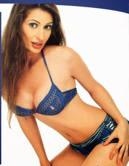 Negar Khan denim bikini
