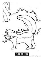 Skunk Animal Alphabet Coloring Pages