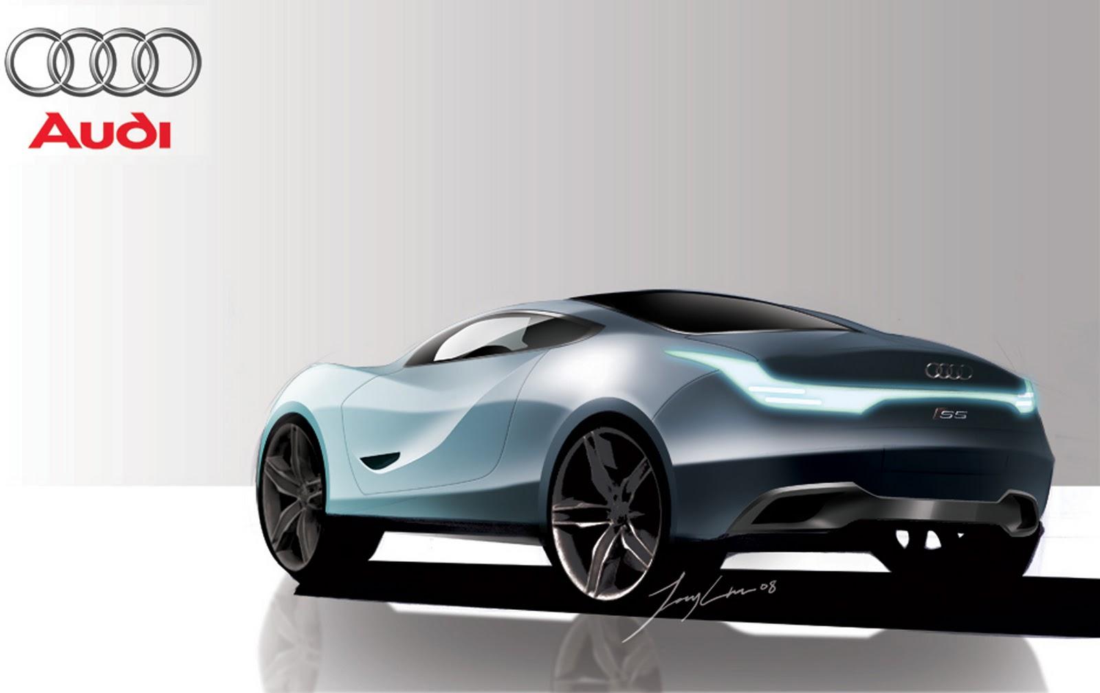 futuristic audi sport car concept