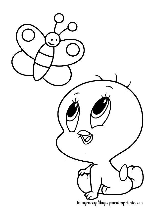 Colorear piolin bebe