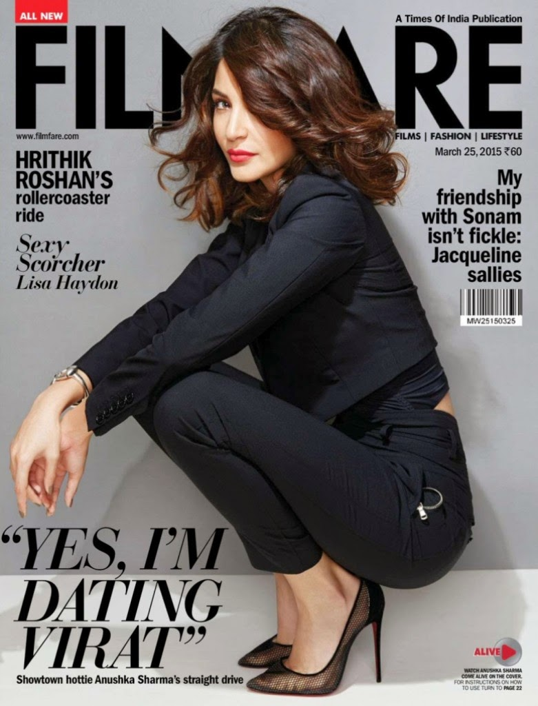 Actress, Model, Film Producer @ Anushka Sharma - Filmfare India March 2015