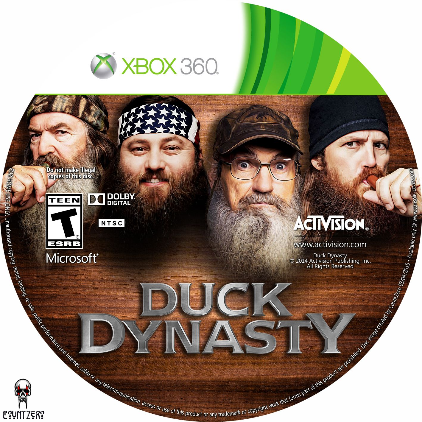 Label Duck Dynasty Xbox 360