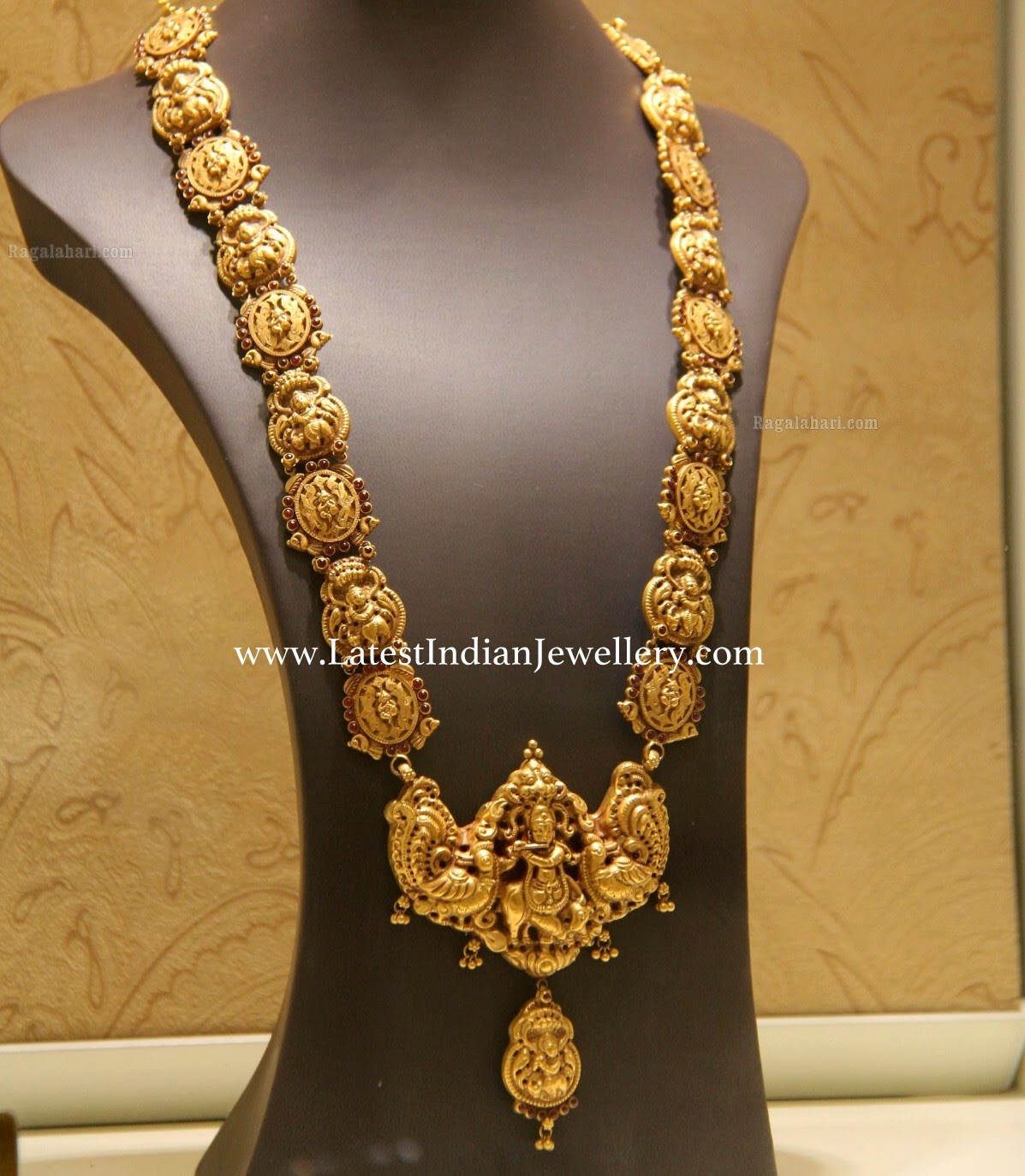 Nakshi Work Gold Krishna Haram