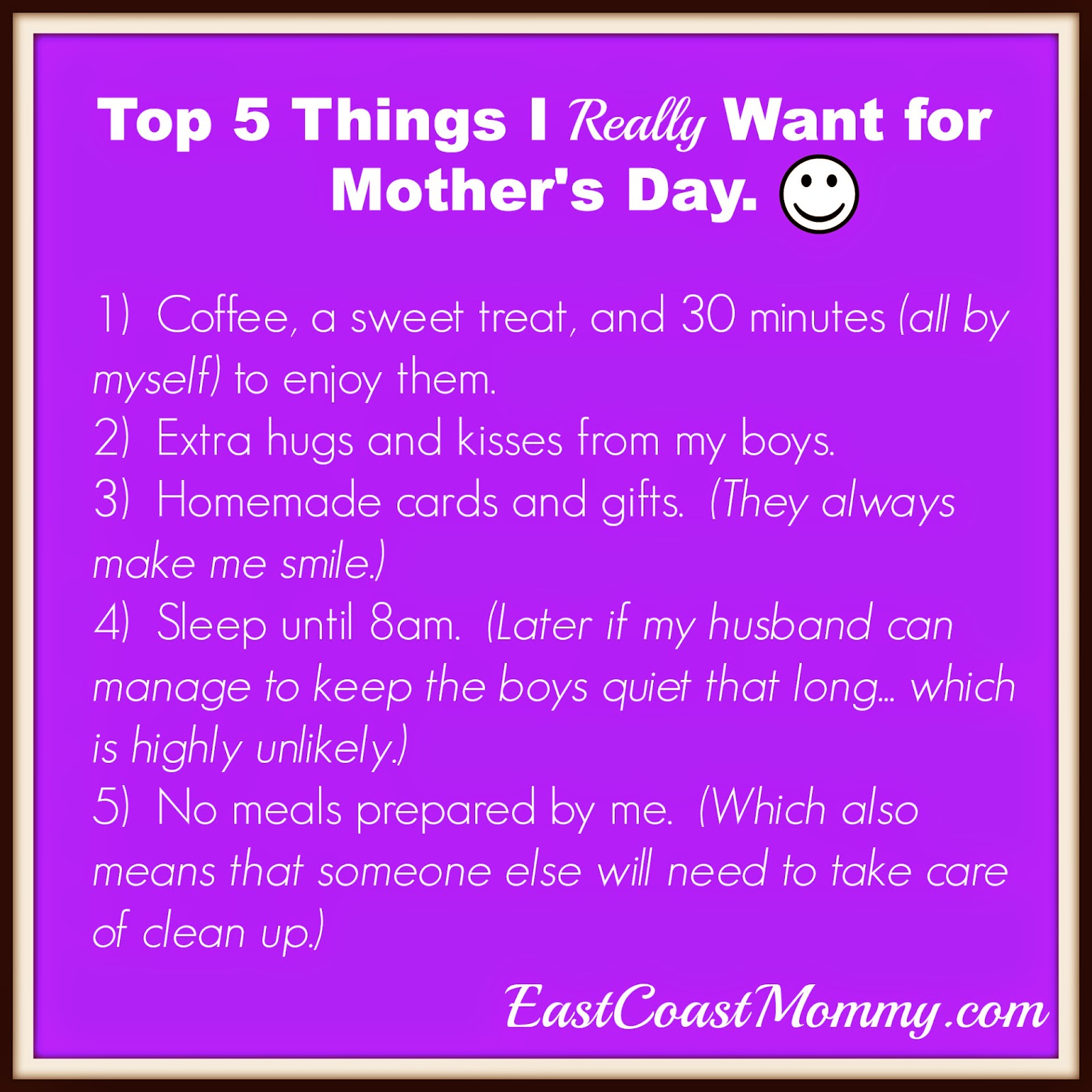 East coast mommy what i really want for mother 39 s day and for Things to make for your mom for mother s day
