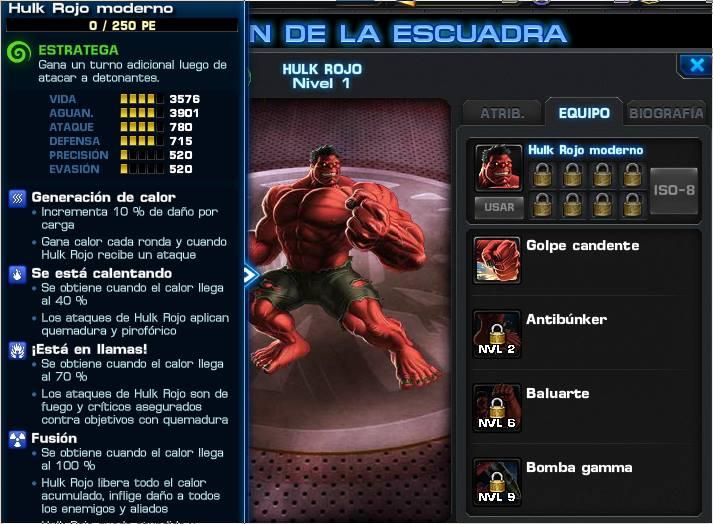 PvP Toneo Sesion 8 - Red Hulk | Marvel Avengers Alliance X-Men