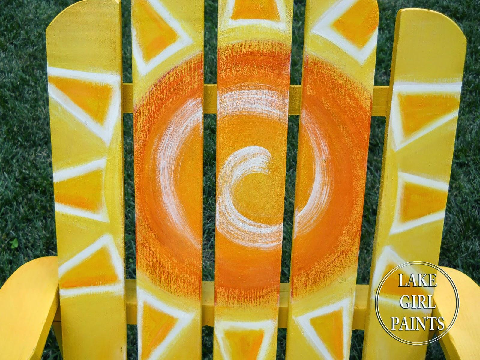 Adirondack chair painting - Painting Sunny Adirondack Chairs