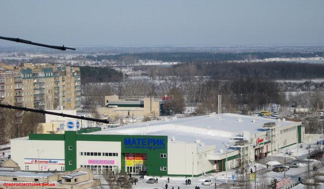 Днепродзержинск. Торговый центр 'Материк'.