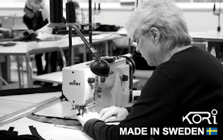 kori back protector in production, made in i sweden