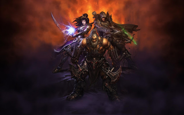diablo 3 iii demon hunter barbarian wizard